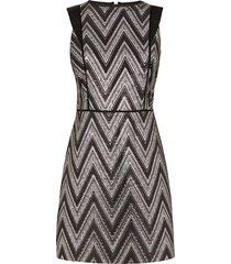jacquard jurk met zigzagprint