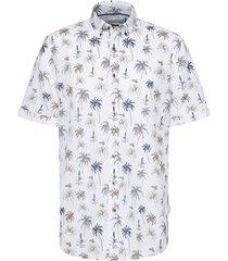 overhemd korte mouwen bugatti palmboomprint