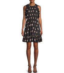 pineapple-print sheath dress