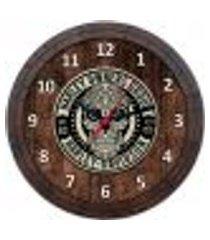 relógio de parede quadro tampa de barril tema cervejas vodka bebidas w-053