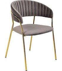 krzesło welwetowe milo szare