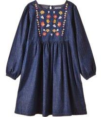 vestido azul enfans saori