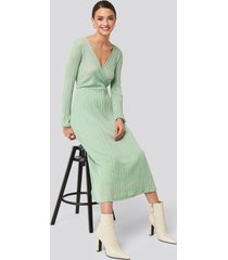 mango lurex dress - green