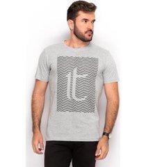 camiseta t shirt algodão teodoro masculino estampada slim - masculino