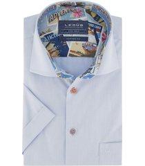 korte mouwen overhemd ledub lichtblauw modern fit