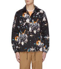 x futura printed fleece lined coach jacket