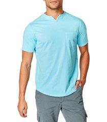 men's good man brand premium cotton t-shirt, size large - blue