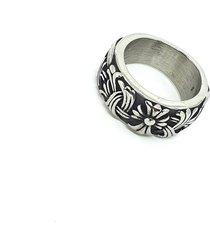 anel empório top de aço inox cruz