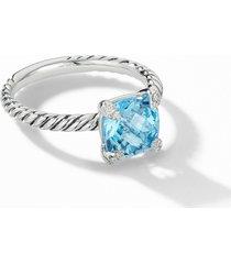 women's david yurman chatelaine ring with semiprecious stone and diamonds