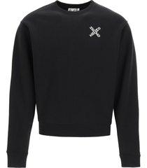 sport little x print sweatshirt