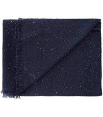 midnight cashmere silk and paillette scarf