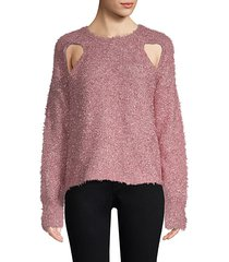 metallic cutout sweater