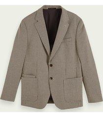scotch & soda single-breasted gestructureerde blazer