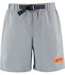 heron preston techno fabric bermuda-shorts