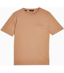 mens selected homme brown pocket t-shirt