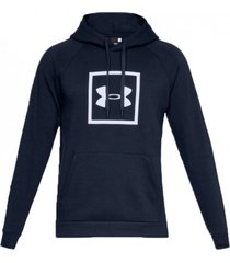 buzo azul under armour rival fleece hoody
