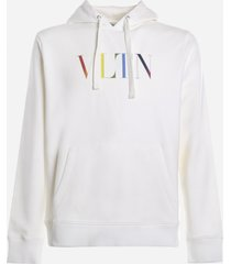 valentino cotton sweatshirt with multicolor vltn logo print