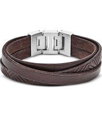 fossil designer men's bracelets, textured wrap men's bracelet
