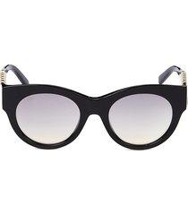 tod's women's 52mm round sunglasses - black