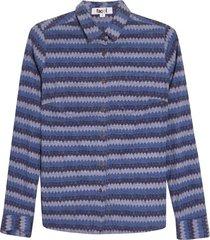 camisa rombos azules color azul, talla 10