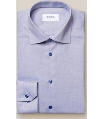 eton overhemd middenl twill knopen cutaway contemporary fit