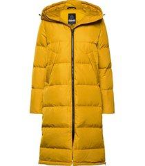 biella w coat gevoerde lange jas geel 8848 altitude