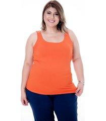 blusa mari malpighi regata básica laranja