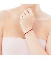 pulsera xxs estrella de cordón en color rojo y oro
