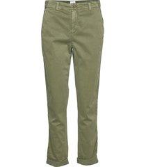girlfriend twill stripe khakis chinos byxor grön gap