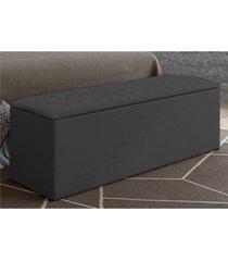 calçadeira baú paris com 140 cm cinza suede amassado - js móveis