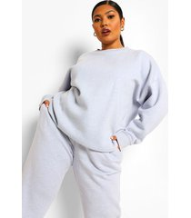 plus oversized overdye sweater, light blue