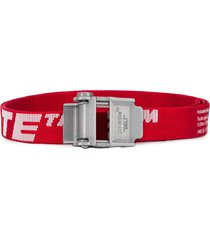 off-white mini 2.0 industrial belt - red