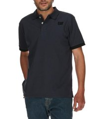 polera polo hombre foundation stretch azul cat