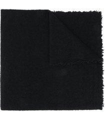 faliero sarti fine knit scarf - black