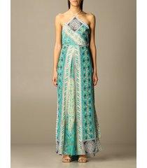 etro dress long etro dress in patterned silk