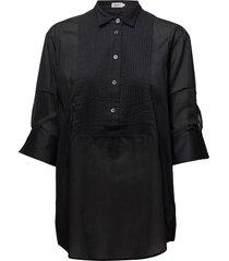 pintuck tuxedo shirt långärmad skjorta svart filippa k