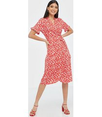 pieces pcamice ss midi wrap dress loose fit dresses