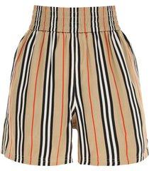 burberry marsett striped silk shorts
