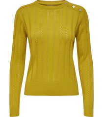 sweater jacqueline de yong amarillo - calce regular