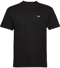 left chest logo tee polos short-sleeved svart vans
