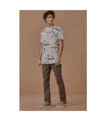 t-shirt estampada geografia tropical natural - gg