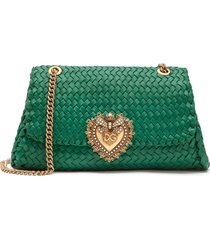 dolce & gabbana large devotion shoulder bag - green