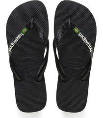 sandalias chanclas havaianas para hombre negro brasil logo