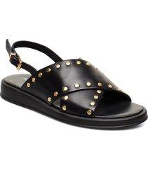 hannah studs shoes summer shoes flat sandals svart pavement