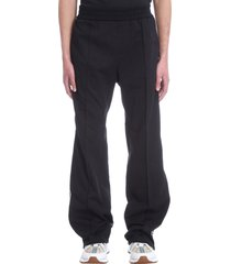 versace pants in black synthetic fibers