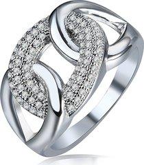 anello elegante di cerchio zircone dell'anello di lusso delle donne