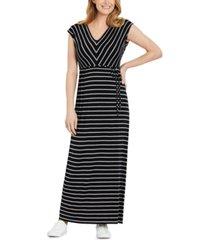 motherhood maternity striped maxi maternity dress