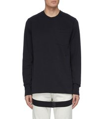 'masc' belt strap sweatshirt