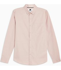 mens pink stretch skinny oxford shirt