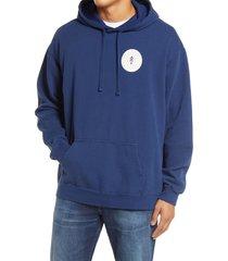 men's parks project escape to nature cotton hoodie, size small - blue